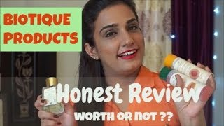 Affordable Skincare | BIOTIQUE SKINCARE PRODUCTS Honest Review | Tanvi Diaries