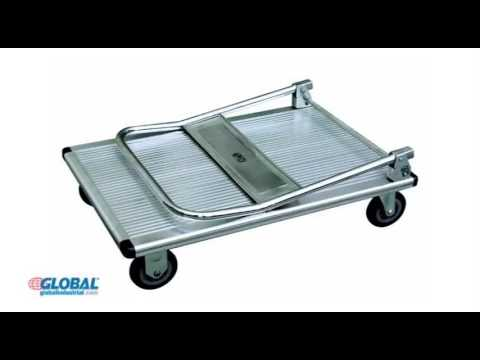 Folding Platform Trucks with Steel & Aluminum Decks 2016