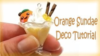 スイーツデコ Japanese Sweet Deco Orange Sundae Ice Cream Tutorial