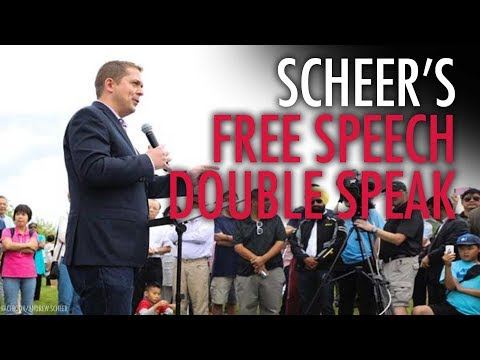 Scheer goes wobbly on vow to defend free speech on campus