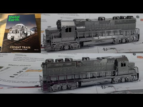 Metal Earth Build - Freight Train gift box - Locomotive