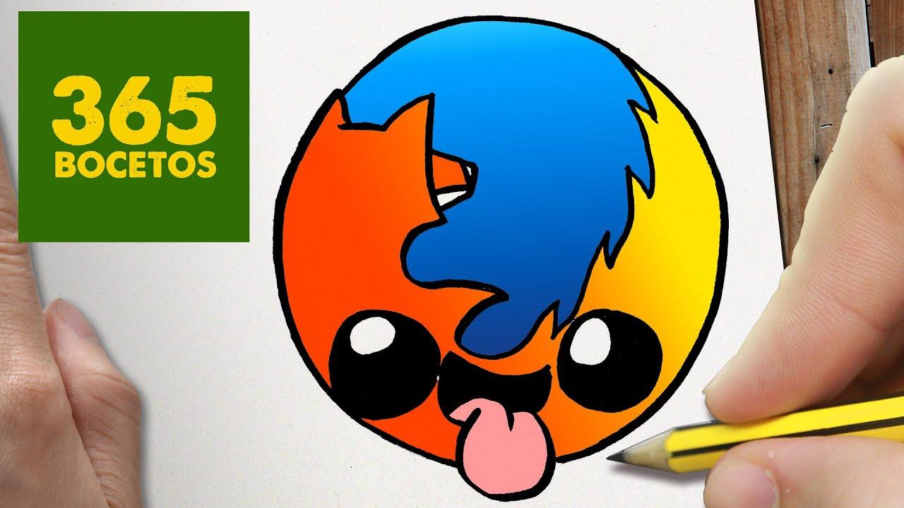 Como Dibujar Logo Firefox Kawaii Paso A Paso Dibujos