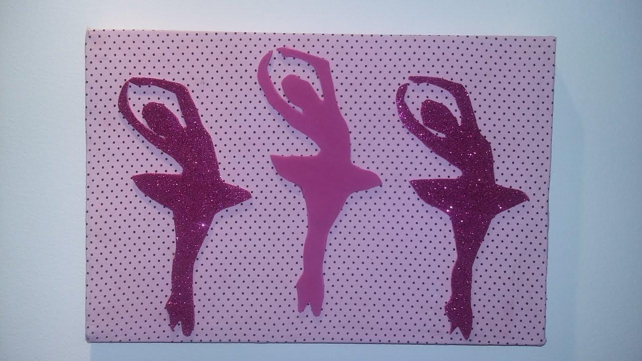 Como Fazer Quadro de Bailarina para Decoração de Quarto  ~ Tapete Eva Kit Quarto