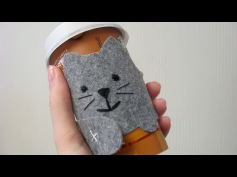 Craft a Cozy Coffee Cup Sleeve Cat - DIY Crafts - Guidecentral