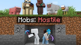 Minecraft, But Every Mob is HOSTILE...