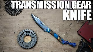 Forging a Knife from a Motorcycle Transmission Gear