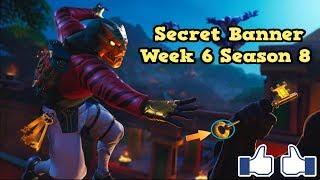 Secret Banner Week 6 Saison 8-Fortnite (bannière cachée Saison 8 semaine 6)