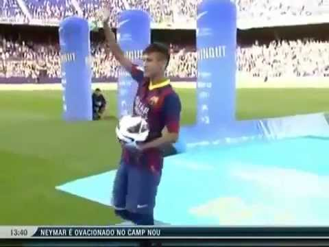 Apresentação do Neymar no Barcelona Travel Video