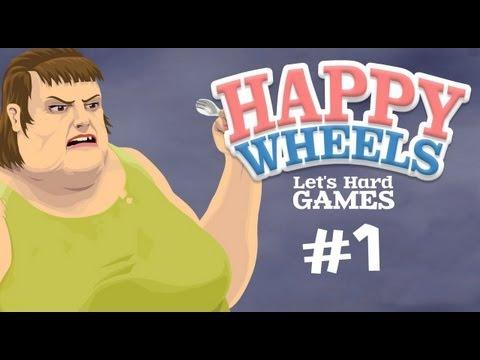 Прохождение Happy Wheels #1 Офигеть, как круто! :D