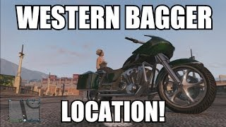 GTA V Online - Western Bagger Location Franklin's Motorcycle (GTA 5 Patch 1.13) Rare Vehicle