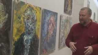 Арт-критик А.В.Толстой на выставке Сергея Федотова ''QR-код'' в ЦДХ