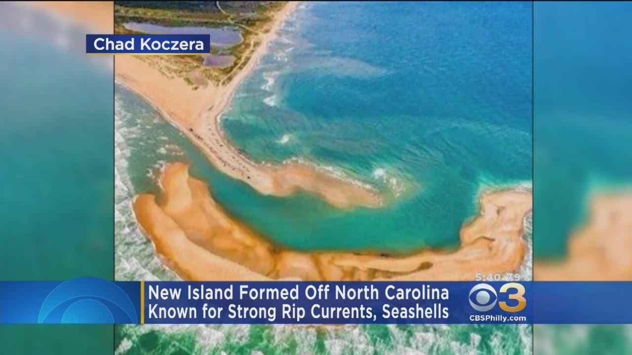 new island formed off north carolina coast youtube