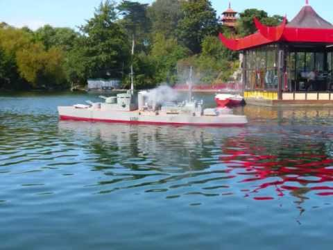 Naval Battle with Model Boats (manned & RC) Peasholme Park Scarborough