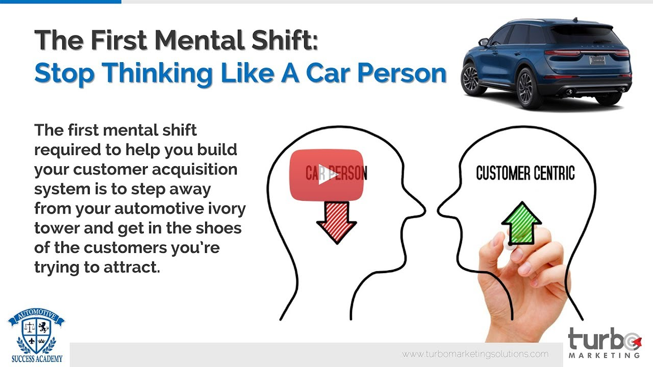 The First Mindset Shift Required To Build An Automotive Customer Acquisition Machine