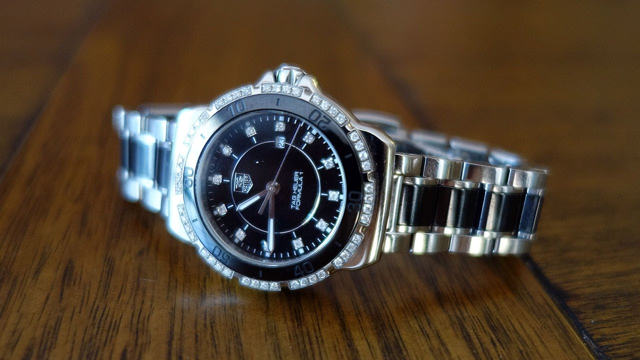 41195dfc4d2 TAG Heuer Formula 1 Steel & Ceramic Diamonds 32mm Ladies Watch Review -  Perth WAtch #6 - YouTube