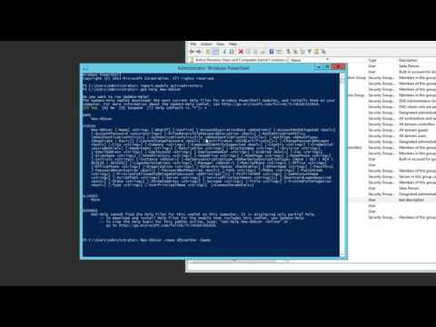 70-410 - Objective 5.2 - Using PowerShell to Create and Manage Users on Windows Server 2012 R2