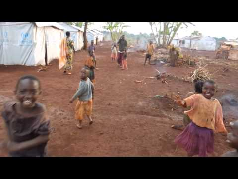 Walking through Nyarugusu Refugee Camp in Tanzania