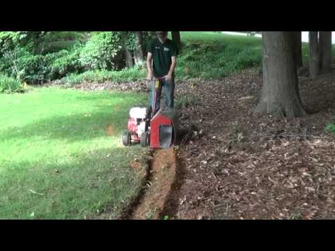 How To Bed Trench A Yard Youtube