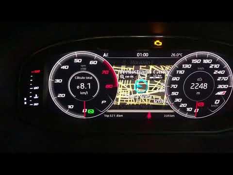 Tablero digital cockpit Seat Cupra Mexico