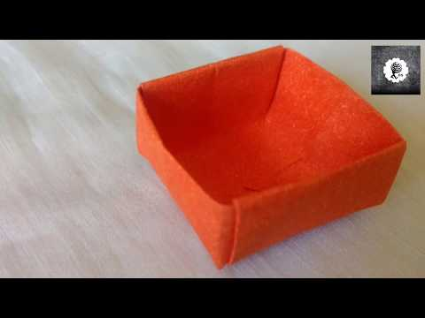 Easy paper box/DIY paper box without glue/Origami paper/How to make a paper box/Easy and simple squ