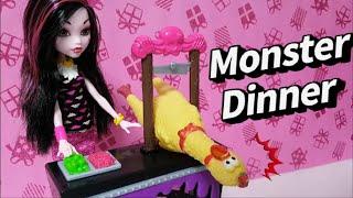 몬스터의 식사초대 Monster High Beast Bites Cafe Draculaura clawdeen wolf Barbie''s Dinner 핑크팝TV