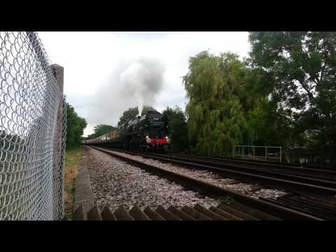 Merchant Navy Class 35028 (Cathedral Express) at Whitstable 19th July 2012