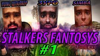 СТАЛКЕРСКИЕ ФАНТАЗИИ/STALKERS FANTOSYS - сезон 2 / часть 1 (Stalcraft приколы) - Yung шталкер,Simba