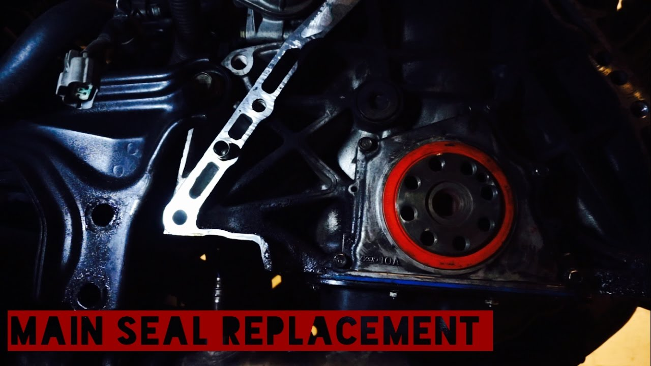 hight resolution of b18 rear main seal replacement