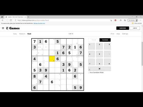 Hard Sudoku New York Times April 13