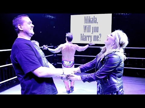 Chris Jericho helps a WWE fan propose in the ring in Melbourne, Australia: August 7, 2014