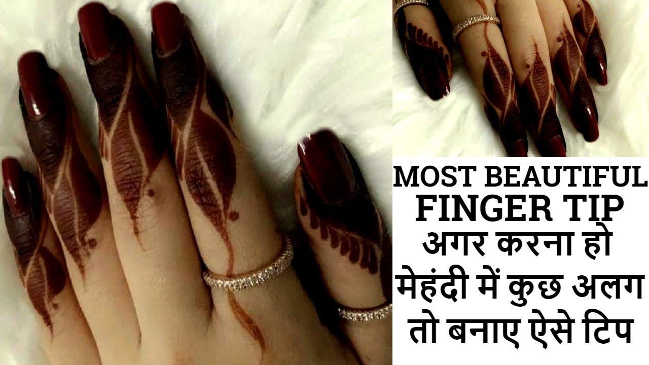 Party Mehndi Red Cone Ingredients : Most beautiful attractive finger tip designfinger mehndi