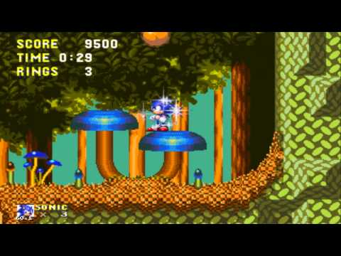 Sonic 3 And Knuckles - Mushroom Hill Zone Giant Ring Locations