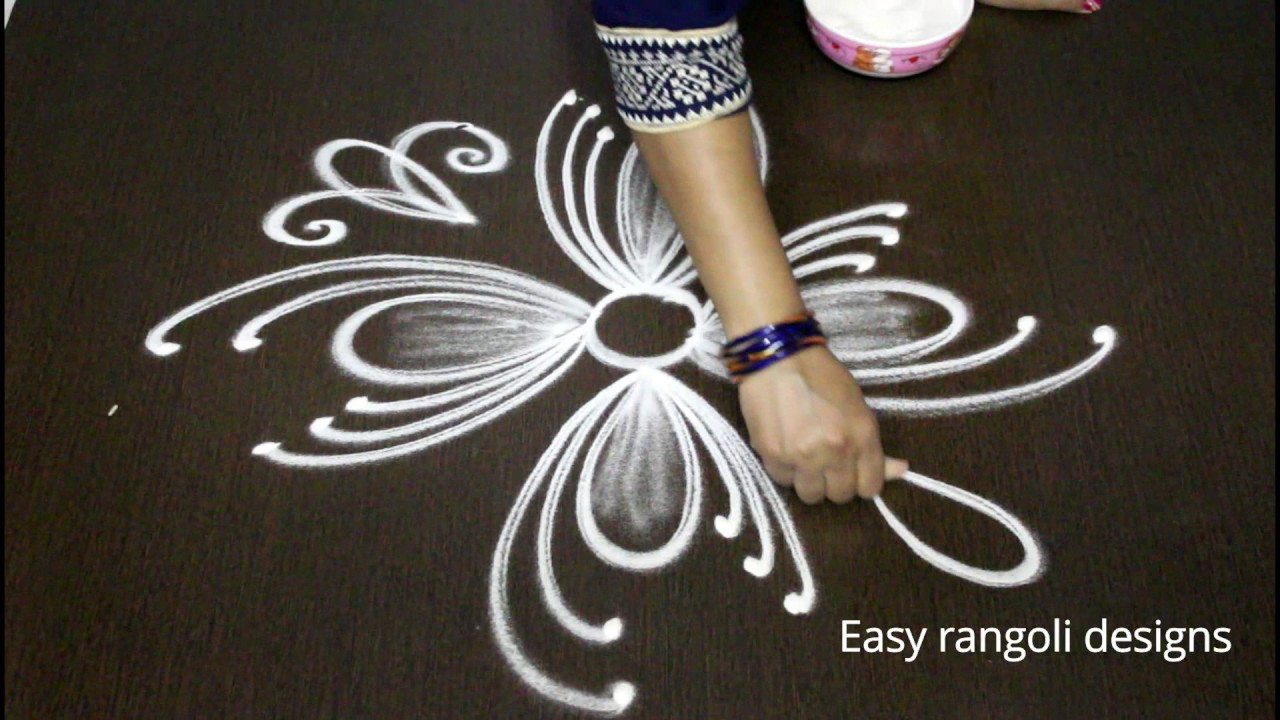 simple muggulu rangoli art designs with out dots easy kolam designs latest indian rangoli design