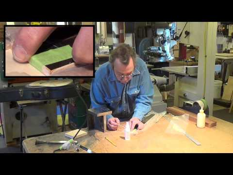 Blues Creek Guitars - Quick Tip - How to Bind a Fingerboard