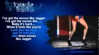 Maroon 5 Moves Like Jagger ft Christina Aguilera Karaoke KD)
