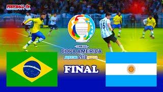 BRAZIL vs ARGENTINA Final - Copa America 2021 - PES 2021 Gameplay Match