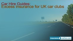 Car hire excess insurance for UK car clubs