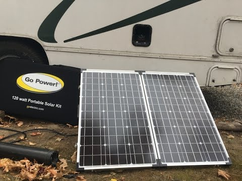 Go Power Portable Solar Panel For Rv Review Youtube