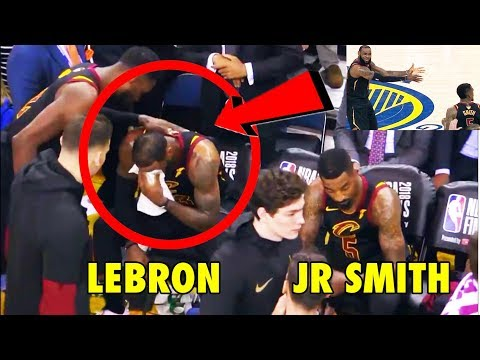 LeBron James' REACTION after JR Smith's Game 1 mistake (2018 NBA Finals)