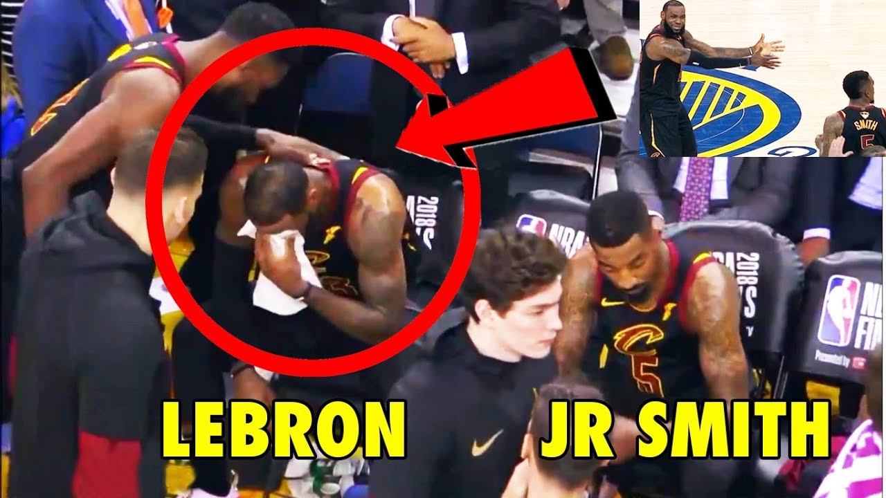fc4580eaa02 LeBron James  REACTION after JR Smith s Game 1 mistake (2018 NBA Finals)