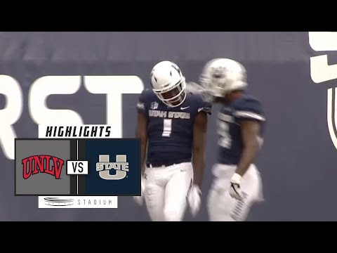UNLV vs. Utah State Football Highlights (2018) | Stadium