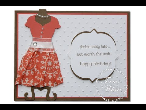 Fashionably Late Dress Up Birthday Card Featuring