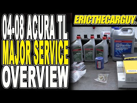 04-08 Acura TL Major Service Overview