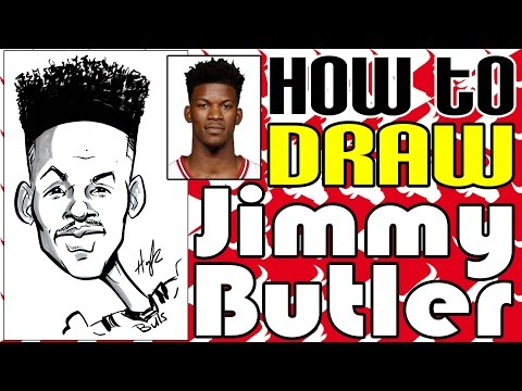How To Draw A Quick Caricature Jimmy Butler