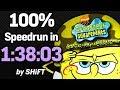 SpongeBob SquarePants: Battle for Bikini Bottom 100% Speedrun in 1:38:03 (WR on 7/31/2018)