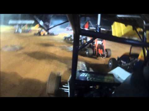 Airport Speedway Mason Dixon 270 Sprint Race   Mike Boer in car cam