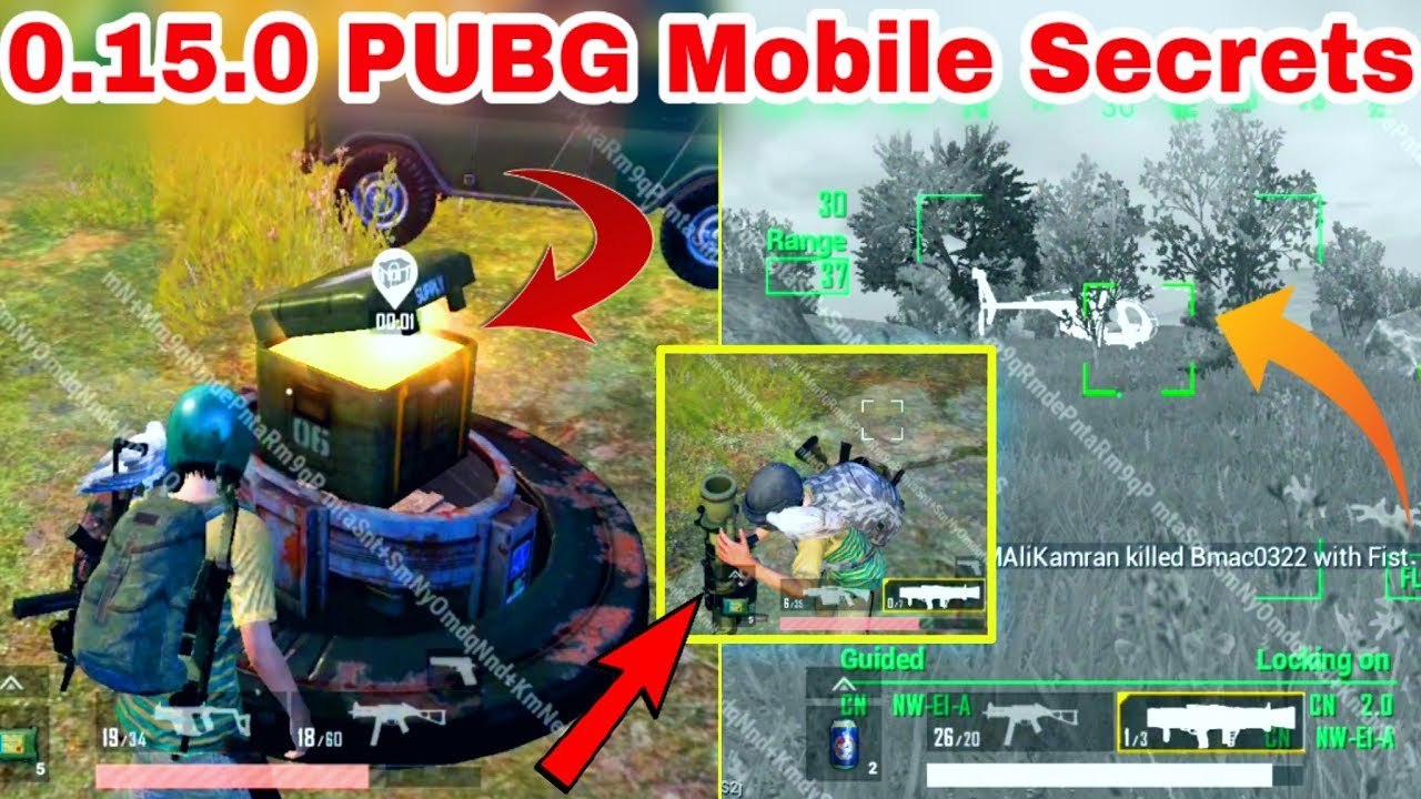 PUBG Mobile 0.15.0 Update all Secrets | PUBG Mobile New Payload Mode And New Weapons