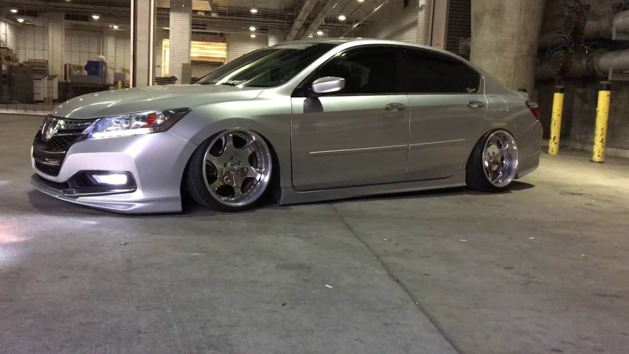 9Th Gen Accord >> 9th Gen Honda Accord bagged - YouTube