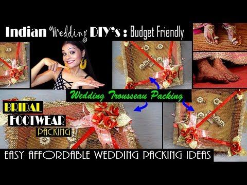 BRIDAL FOOTWEAR PACKING | WEDDING TROUSSEAU PACKING | EASY CREATIVE IDEAS for Indian Weddings | #DIY