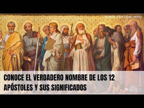 Conoce el verdadero nombre de los 12 apóstoles y sus significados